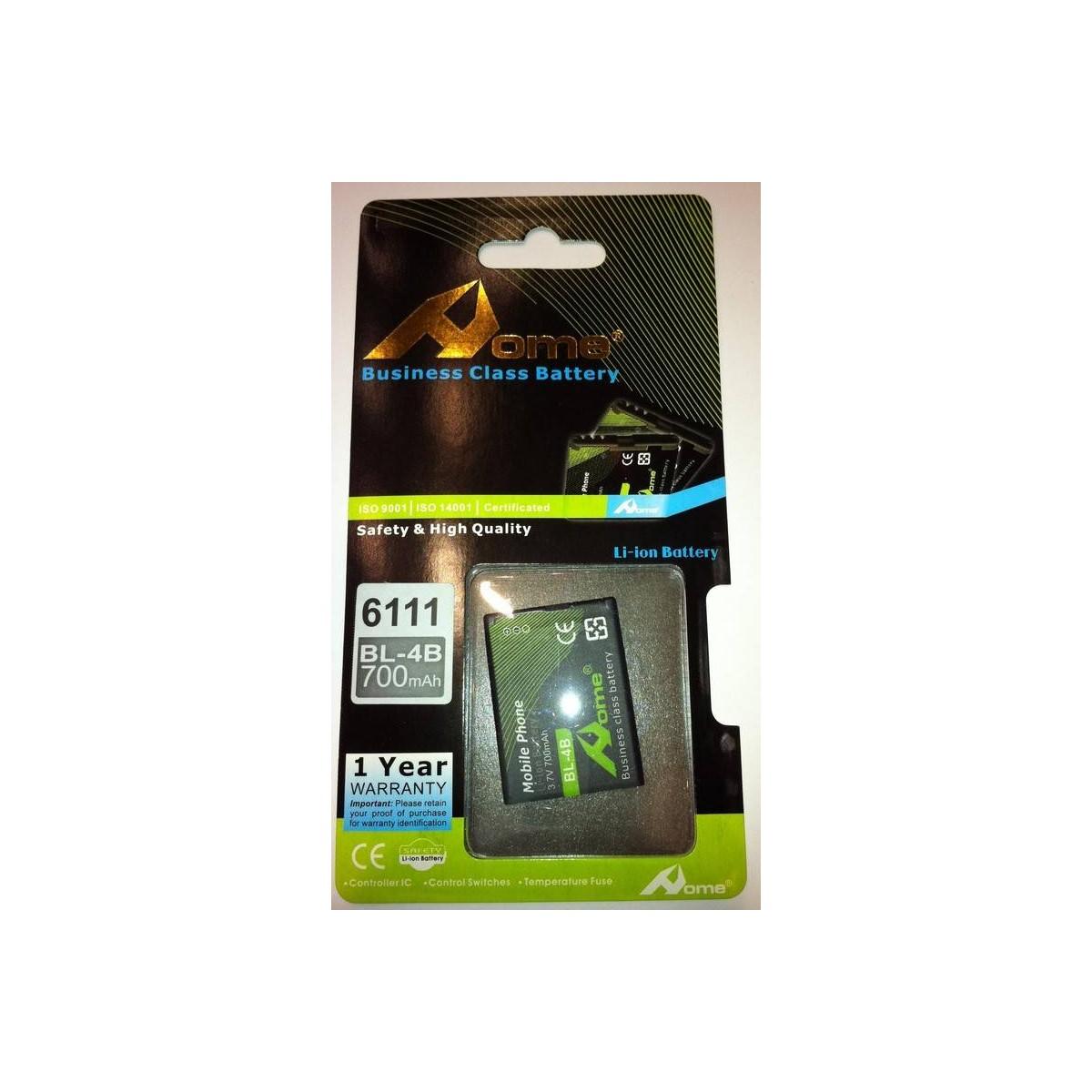 bateria para Nokia BL-4B 2630, 2660, 2760, 5000, 6111. 700M/AH DE LARGA DURACIÒN