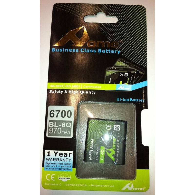 Nokia 6700c Classic bateria BL-6Q 970 M/AH DE LARGA DURACIÒN