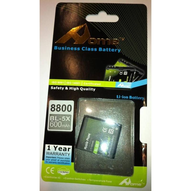 Nokia 8800 bateria BL-5X 600M/AH DE LARGA DURACIÒN