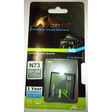bateria para Nokia BP-6M 9300, 6280, 3250, 6151, 6233, 6234, N73, N93, Bateria 1070M/AH de LARGA DURACION