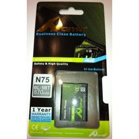 Nokia 2600c Classic, N 75 7510 Supernova bateria BL-5BT 870 M/AH