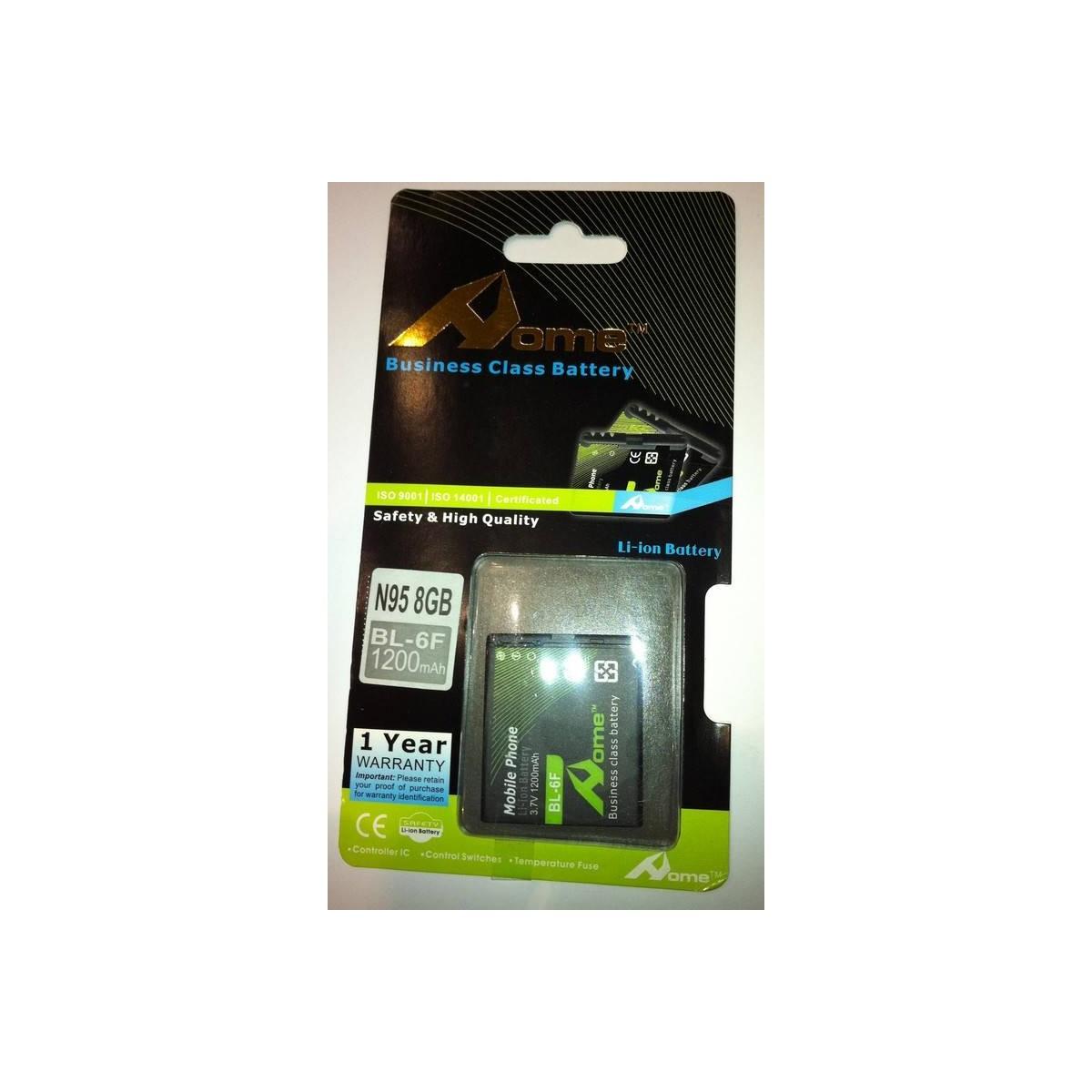 Nokia N95 8GB bateria BL-6F (BL6F) 1200 M/AH