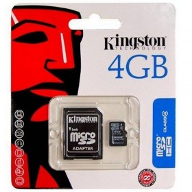 Tarjeta de memoria micro sd 4gb kingston original con adaptador a SD
