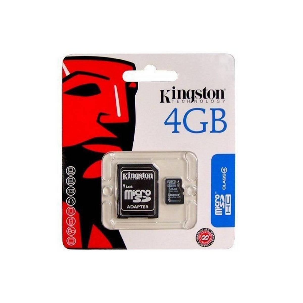 Cartão De memoria micro sd 4gb kingston original com adaptador a SD