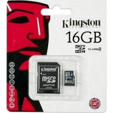 tarjeta de memoria micro sd 16gb kington original con adaptador a SD