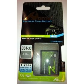Sony Ericsson BST-33 K550, K530i, K800, P1, 900m/Ah LI-ION de LARGA DURACION