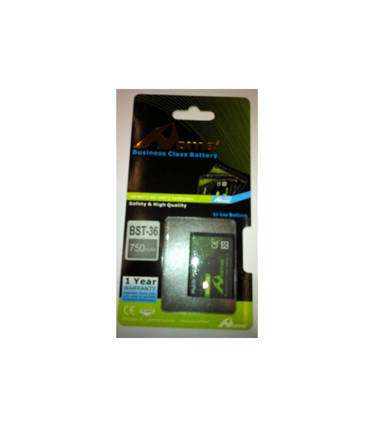 Sony Ericsson BST-36 J300i, K310i, K510i, 750m/Ah LI-ION DE LARGA DURACION