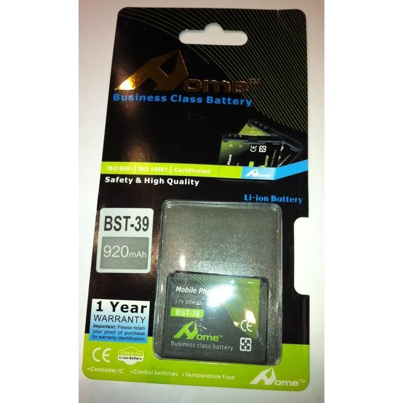 Sony Ericsson BST-39 W380i, W910i, W908i, Z555i, 920m/Ah LI-ION DE LARGA DURACION