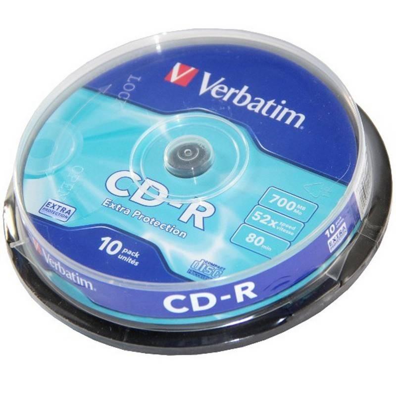 10 CD - R 700MG  VERBATIM
