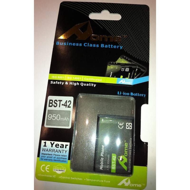 Sony Ericsson J132i BST-42, 950m/Ah LI-ION DE LARGA DURACION