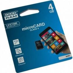 Tarjeta de memoria micro SDHC de 4 GB Clase 4 Goodram