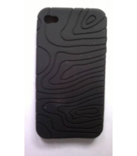 Funda de silicona iphone 4g preta