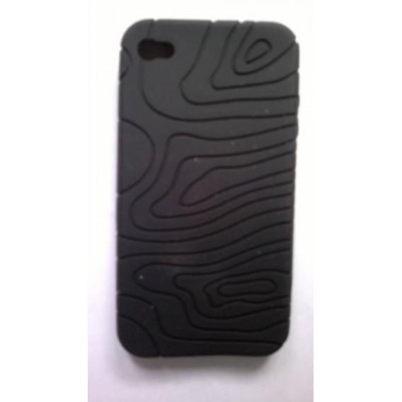 Funda de silicona iphone 4g negra
