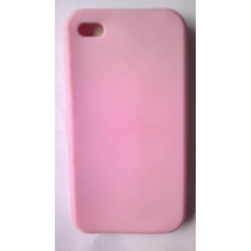 Funda de silicona iphone , rosa
