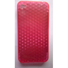 funda silicona iphone 4g rosa