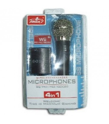 PS3/Wii/PS2/360 Microfono Inalambrico 4 en 1