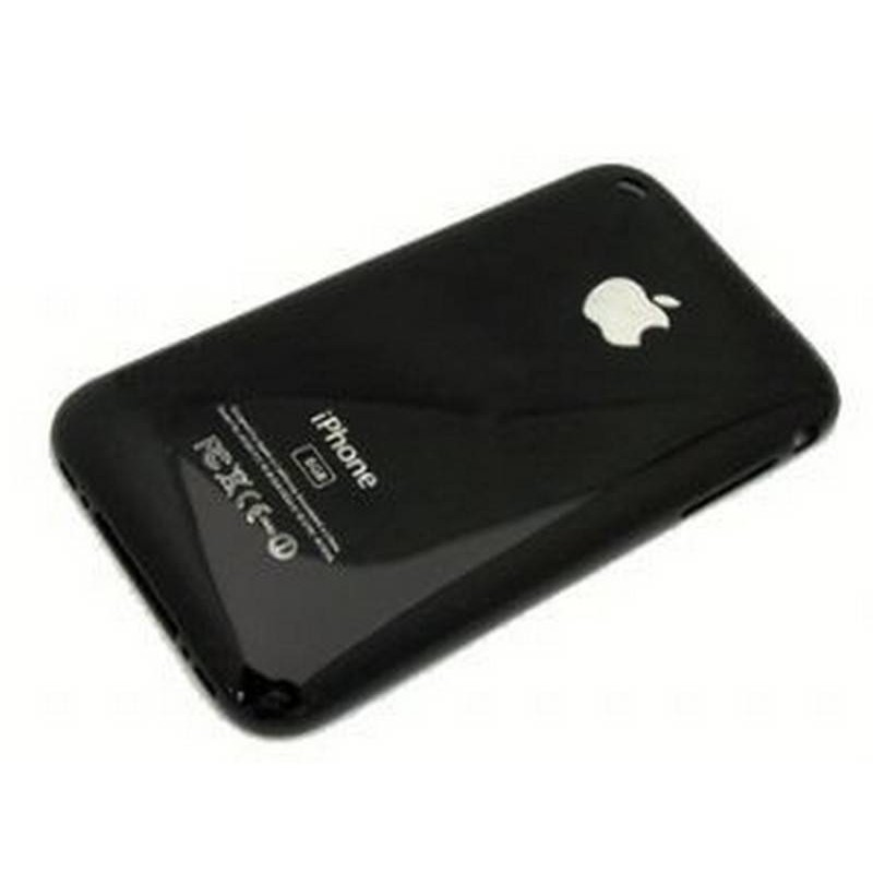 iPhone 3G 8GB carcaça traseira, tapa bateria PRETA