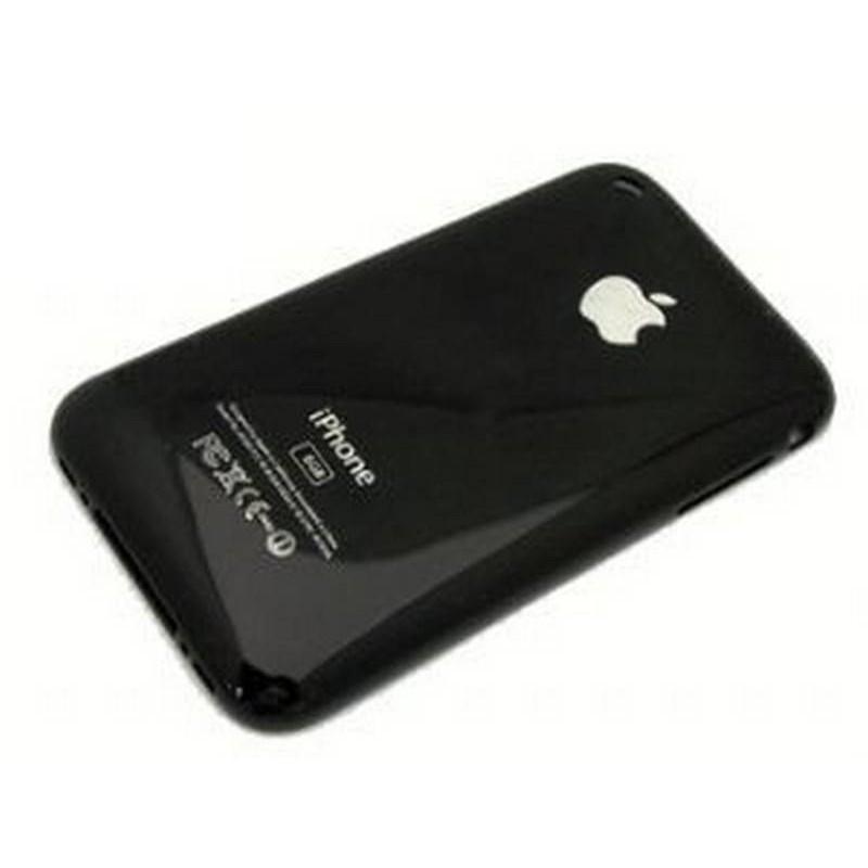 carcaça traseira 32gb, tapa bateria preta iphone 3gs