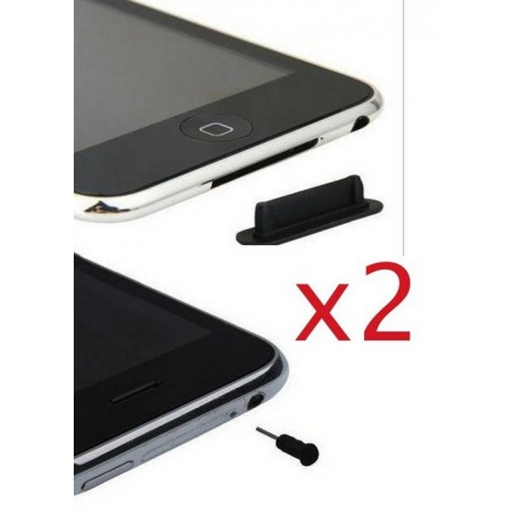 TAPONES Anti polvo iphone 3 3G 3GS 4 4G ipod PACK 2