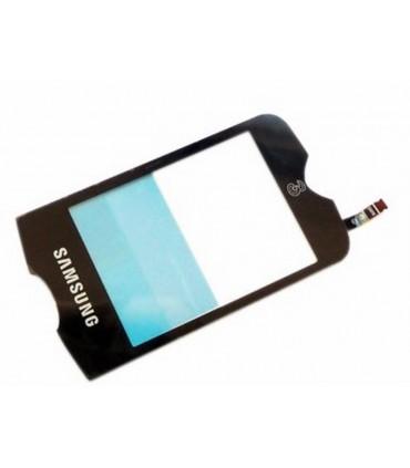 Samsung S3370 pantalla digitalizadora, ventana negra tactil cubre display LCD