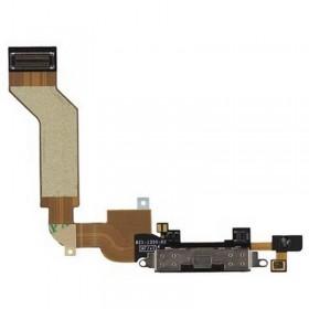 Conector de carrega iPhone 4S preto com micrófono