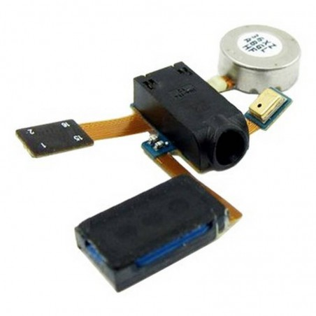 Cable flex con vibrador, altavoz auricular, conector de auriculares y microfono para Samsung i9100 Galaxy SII/2