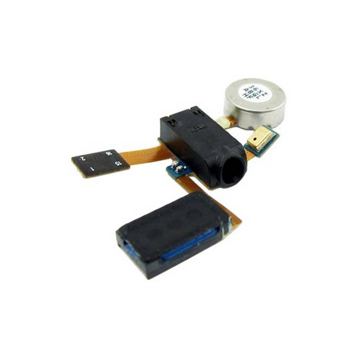 Cabo flex com vibrador, altavoz fone de ouvido, conetor de fone de ouvidoes e microfono para Samsung i9100 Galaxy SII/2