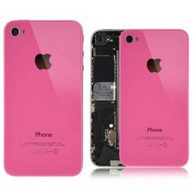 tapa trasera para iphone 4 color rosa