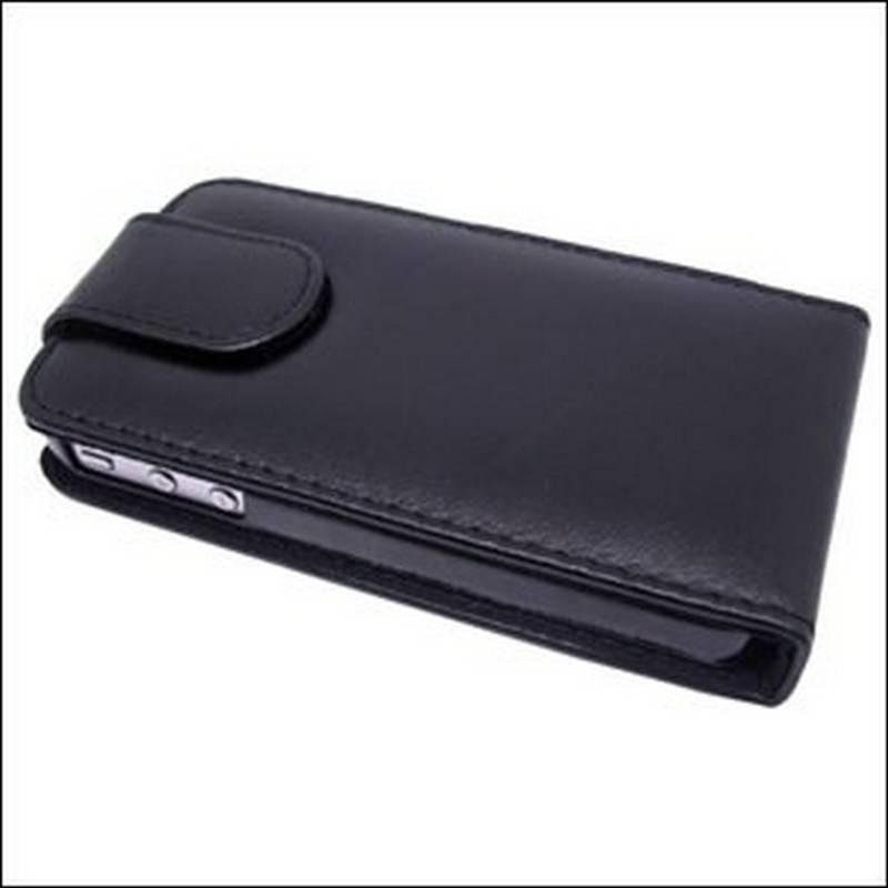 Funda iphone 4G/S de tapa cor preto