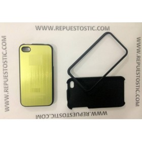 Funda iPhone 4G/S de 2 partes, de metal, color verde