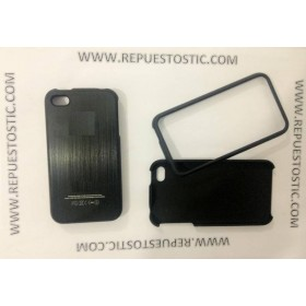 Funda iPhone 4G/S de 2 partes, de metal, cor preto