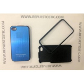 Funda iPhone 4G/S de 2 partes, de metal, color azul oscuro