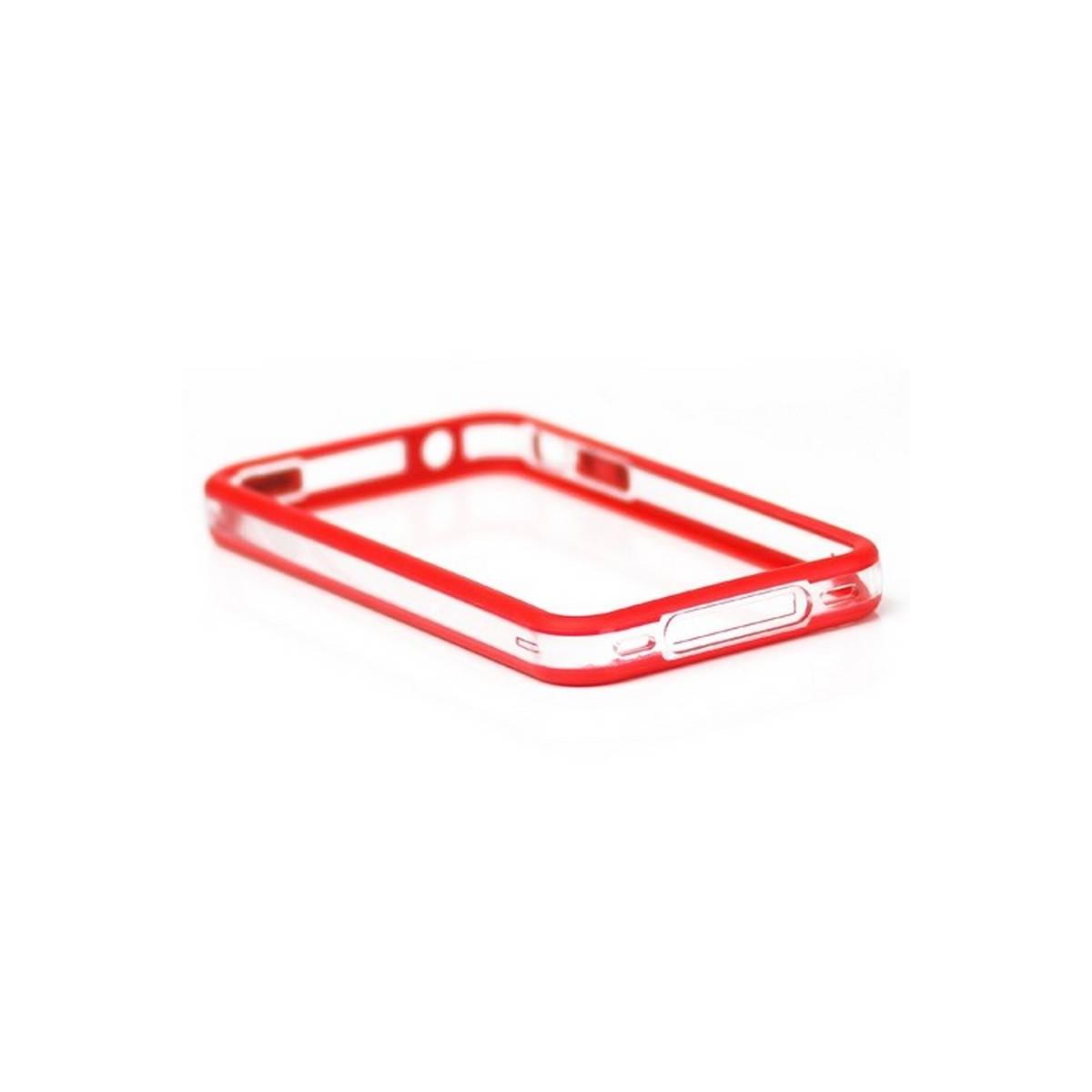 Bumper iPHONE 4/S ROJO con TRANSPARENTE