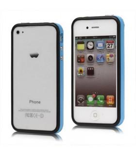Bumper iphone 4/S azul con negro