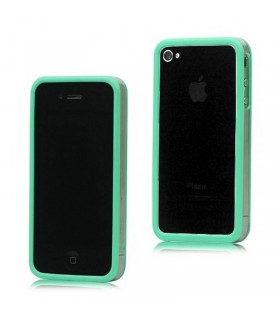 Bumper iphone 4/S verde com transparente