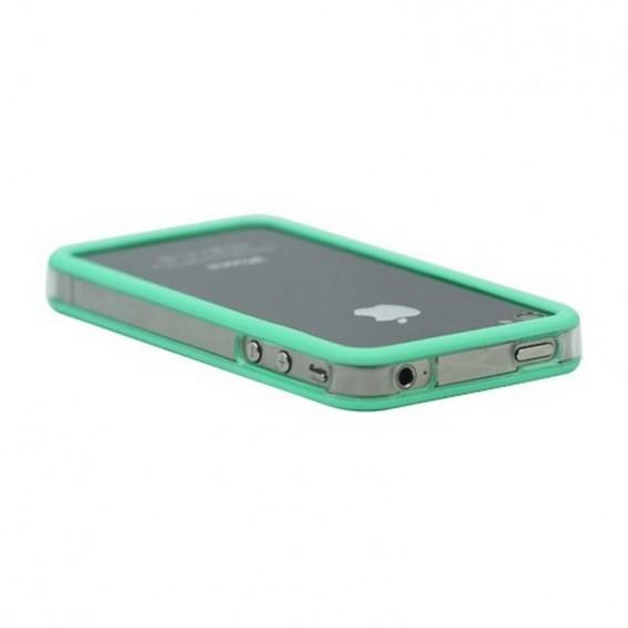 Bumper iPHONE 4/S VERDE con TRANSPARENTE