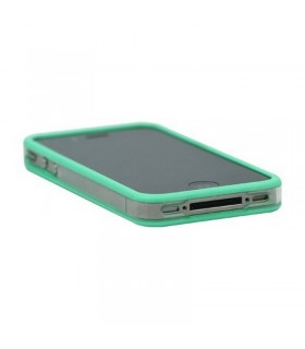 Bumper iphone 4/S verde con transparente
