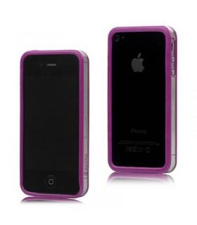 Bumper iphone 4/S purpura com transparente