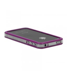 Bumper iphone 4/S purpura con transparente