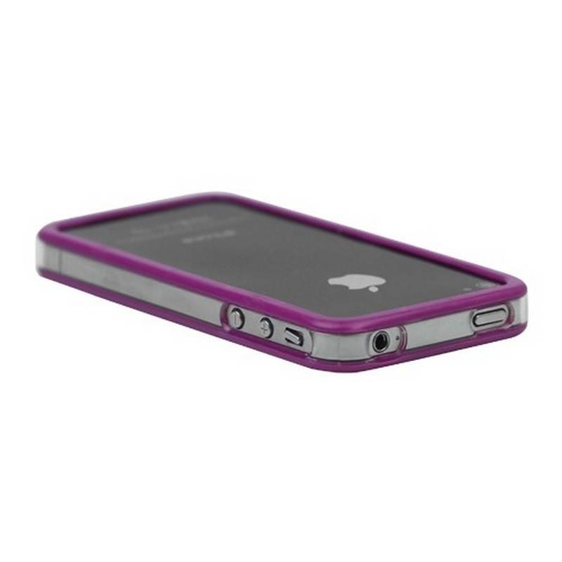 Bumper iphone 4/S purpura con transparente