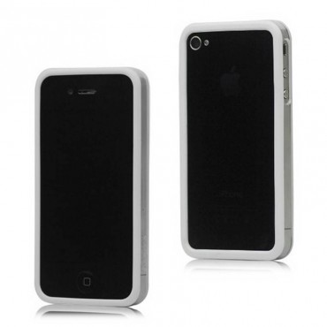 Bumper iphone 4/S blanco con transparente