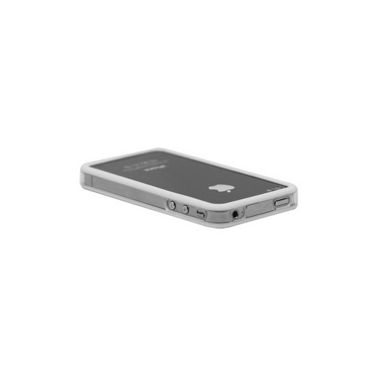 Bumper iphone 4/S blanco con transparente