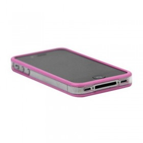 Bumper iphone 4/S rosa transparente