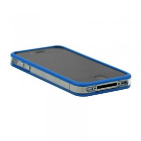 Bumper iphone 4/S azul con transparente