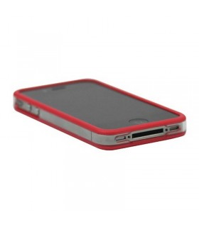 Bumper iphone4/S rojo con transparente