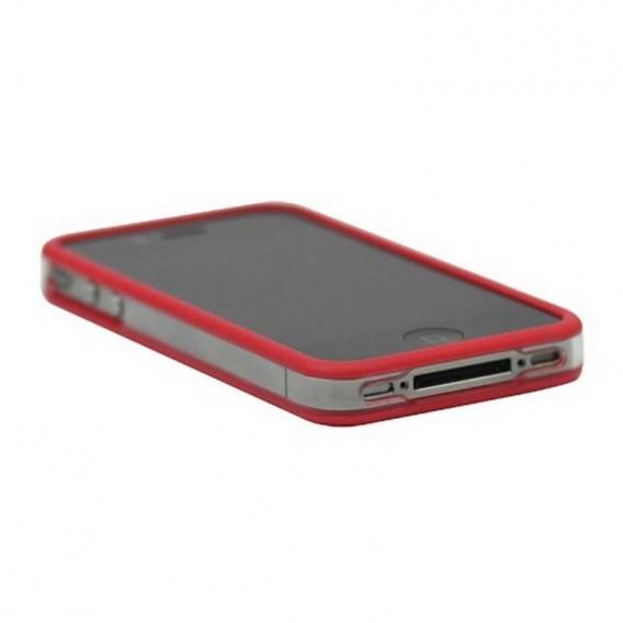 Bumper iphone4/S rojo con transparente