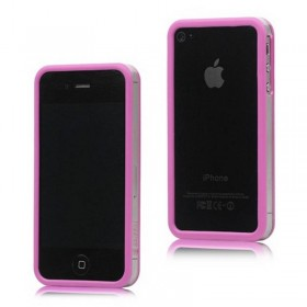 Bumper iphone 4/S rosa com transparente