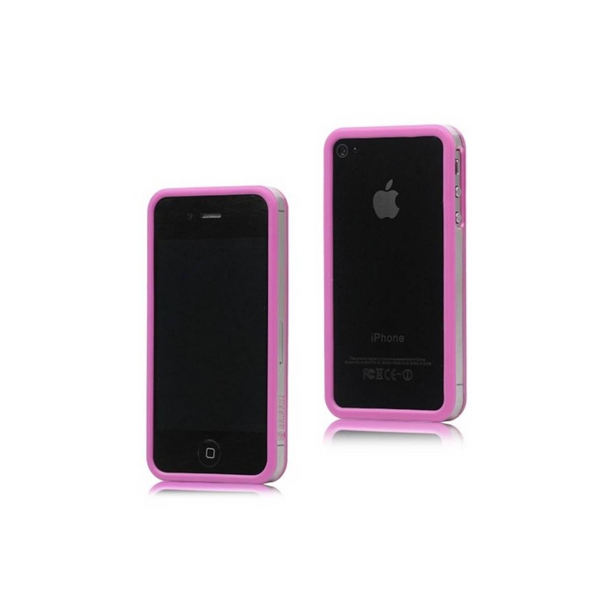 Bumper iphone 4/S rosa con transparente