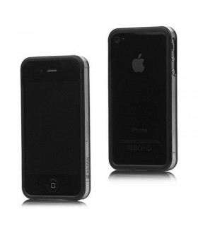 Bumper iphone 4/S negro con transparente