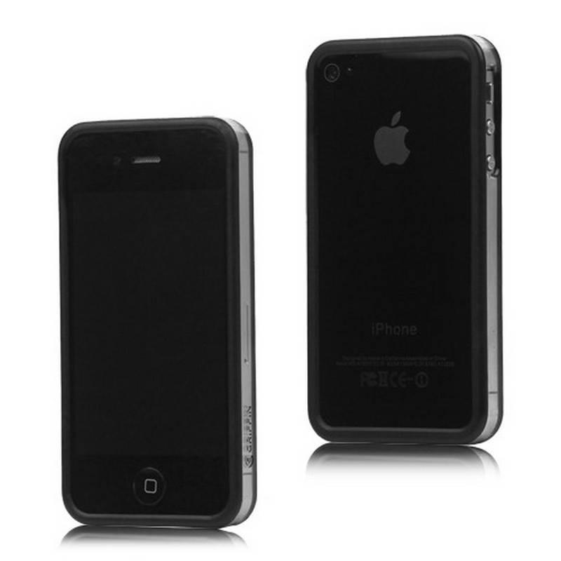 Bumper iphone 4/S negro con transparente
